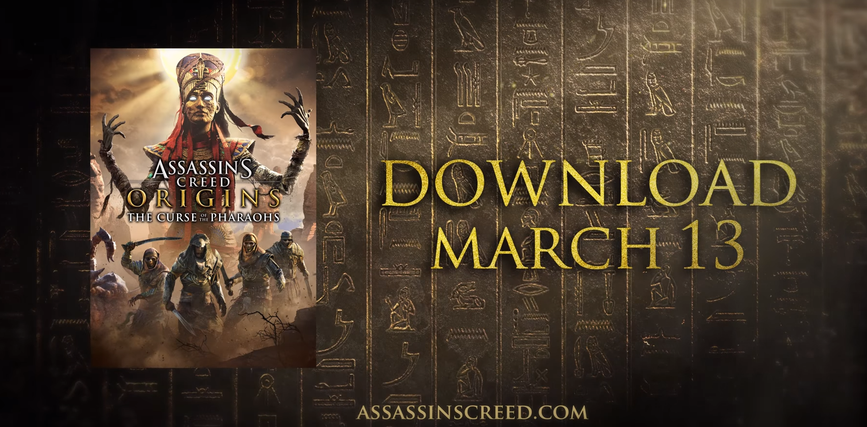 "Assassin's Creed® Origins DLC ""The Curse of the Pharaohs"" Available Tomorrow, March 13th"