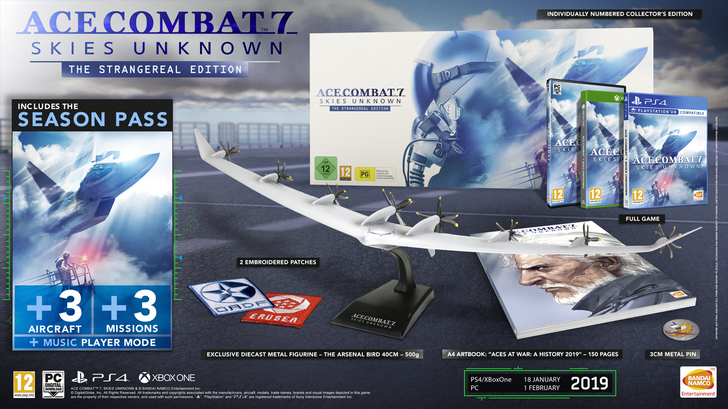 ACE COMBAT 7: SKIES UNKNOWN COLLECTOR'S EDITION REVEALED