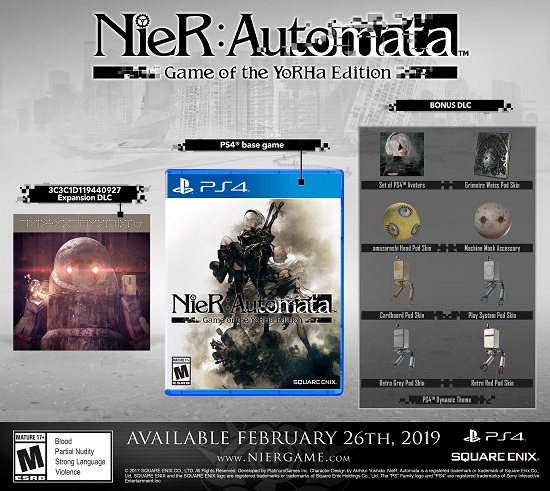NIER:AUTOMATA GAME OF THE YORHA EDITION COMING SOON